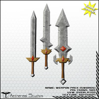 3d fantasy swords weapons pack