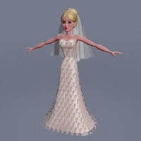 Lacy Wedding dress&bride