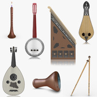 3d realistic turkish musical instruments model