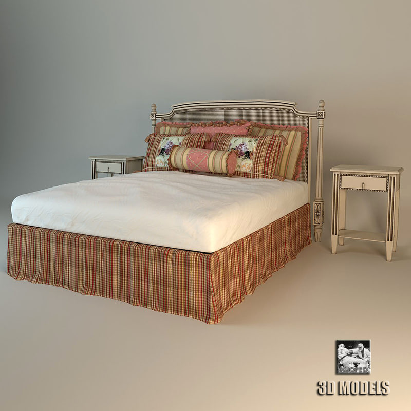 roche bobois bed provence 3d model. Black Bedroom Furniture Sets. Home Design Ideas