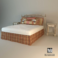 3d model roche bobois bed