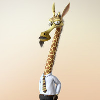 Maya Cartoon Character Giraffe