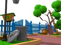 3d model cartoon gate