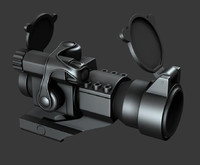 maya aimpoint scope m68