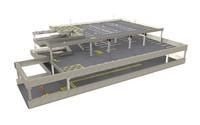 3d story car park model