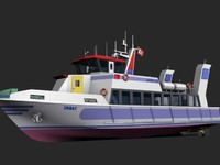 ferry vessel 3d 3ds