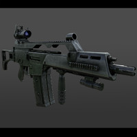 obj realistic assault rifle