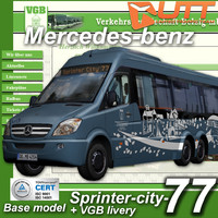 3d model mercedes-benz sprinter city 77
