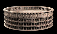 3d roman colosseum model