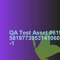 QA Test Asset #61958197739531410601