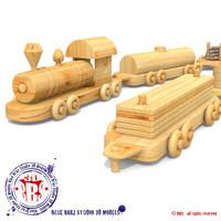 3d train wood