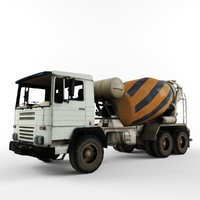 cement mixer truck 3ds