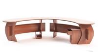 3dsmax curved office desk
