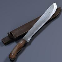 3d model machete