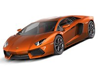 3d lamborghini aventador 2012 model