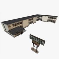 motel building 3d max