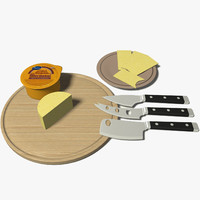 cheese knife set 3d max