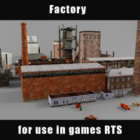 3d factory industrial structure model