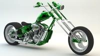 3d model classic chopper