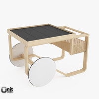 tea trolley 900 alvar aalto 3d model