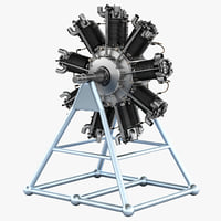 3d bristol jupiter engine model