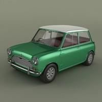 3d morris mini cooper mk 1 model