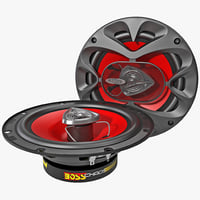 3d model car speaker boss ch6520