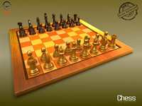 maya realistic chess board