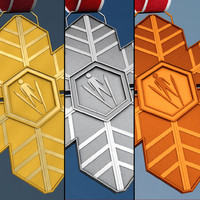 pack winter sport medals 3d 3ds