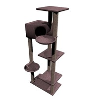 cat climbing tower 3d obj
