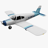 piper pa-28 cherokee civil 3d model
