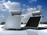 3d model solar water heater