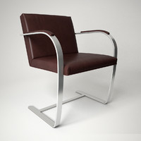 3d knoll brno chair - model