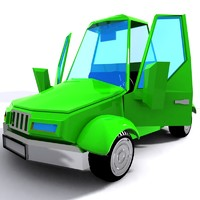 toon cartoon car 3d model