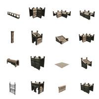 3d modular courtyard