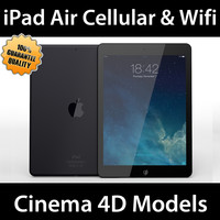 apple ipad air wifi 3d c4d