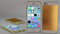 iphone 5s smartphone uv 3d model
