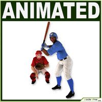 3d model catcher batter