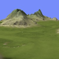 3d model metay terrain km-08