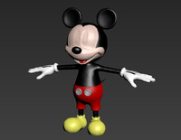 3d mickey real time model