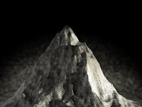 free snow mountain 3d model