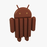 3d android kitkat kit kat model