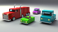 Rigged Toy vehicles