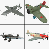 3d world war ii aircraft model