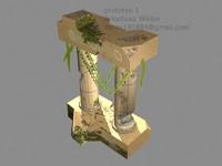column rome 3d max
