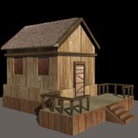3d hut model