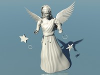 3d model angel engraving