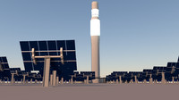 solar power 3d obj