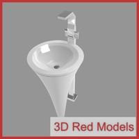 3dsmax sink faucet