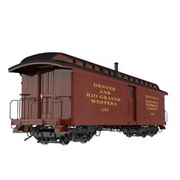 "Railroad Baggage Car; ""D&RG Narrow Gauge"